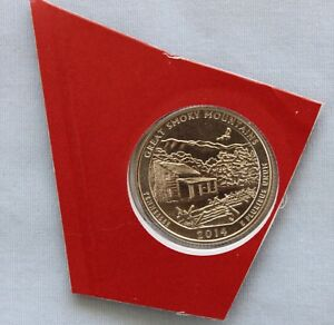 2014 D GREAT SMOKY MTNS ATB UNCIRCULATED QUARTER IN ORIGINAL MINT HOLDER  3566