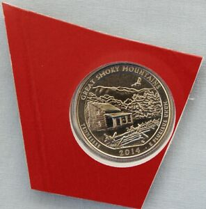 2014 D GREAT SMOKY MTNS ATB UNCIRCULATED QUARTER IN ORIGINAL MINT HOLDER  9565