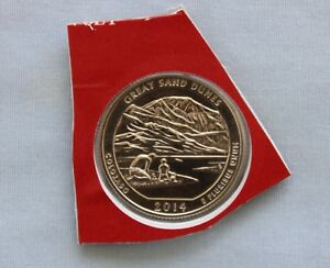 2014 D GREAT SAND DUNES ATB UNCIRCULATED QUARTER IN ORIGINAL MINT HOLDER  3566