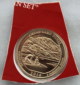 2014 D GREAT SAND DUNES ATB UNCIRCULATED QUARTER IN ORIGINAL MINT HOLDER  9565