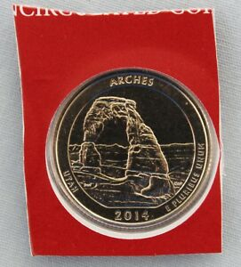 2014 D ARCHES ATB UNCIRCULATED QUARTER IN ORIGINAL MINT HOLDER  8558