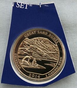 2014 P GREAT SAND DUNES ATB UNCIRCULATED QUARTER IN ORIGINAL MINT HOLDER  9565