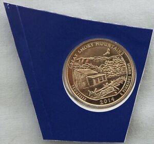 2014 P GREAT SMOKY MTNS ATB UNCIRCULATED QUARTER IN ORIGINAL MINT HOLDER  9565