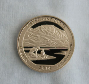 2014 S GREAT SAND DUNES CLAD PROOF ATB QUARTER CAMEO
