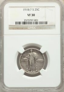 Click now to see the BUY IT NOW Price! 1918/7 S US SILVER 25C STANDING LIBERTY QUARTER   NGC VF30