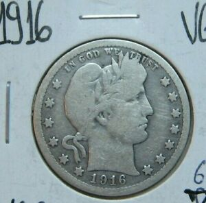 1916 BARBER QUARTER GOOD CONDITION