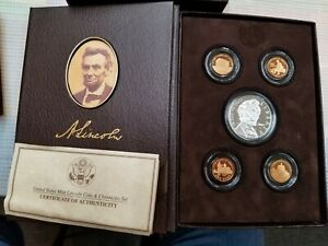 2009 LINCOLN COIN AND CHRONICLES SET WITH COA AND SLEEVE
