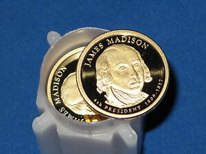 2007 S PRESIDENTIAL DOLLAR JAMES MADISON ROLL OF 20 COINS