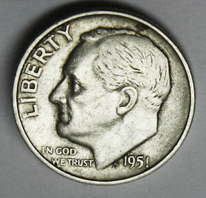 1951 S ROOSEVELT DIME     INV. A