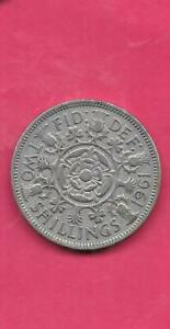 GREAT BRITIAN GB UK KM906 1961  VF VERY FINE NICE OLD VINTAGE LARGE FLORIN COIN