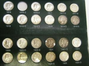 Click now to see the BUY IT NOW Price! COLLECTION 1916 TO 1945 S MERCURY DIMES