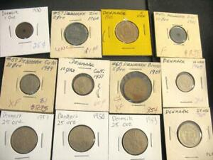 Click now to see the BUY IT NOW Price! A DOZEN OLD COINS FROM DENMARK
