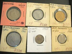 Click now to see the BUY IT NOW Price! 6 OLD COINS FROM DENMARK