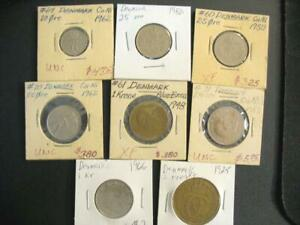 Click now to see the BUY IT NOW Price! 8 OLD COINS FROM DENMARK