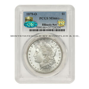 Click now to see the BUY IT NOW Price! 1879 O $1 SILVER MORGAN PCGS MS66  PQ APPROVED CAC CERTIFIED ILLINOIS SET COINS