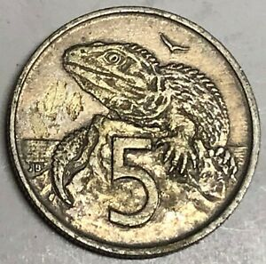 C1154   NEW ZEALAND    COIN     5  CENTS   1967