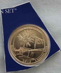 2013 P FORT MCHENRY ATB UNCIRCULATED QUARTER IN ORIGINAL MINT HOLDER  9564