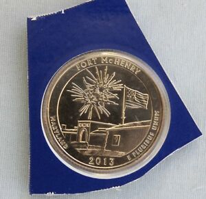 2013 P FORT MCHENRY ATB UNCIRCULATED QUARTER IN ORIGINAL MINT HOLDER  2116