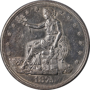 1875 P TRADE DOLLAR NICE UNC DETAILS BRIGHT WHITE GREAT EYE APPEAL STRONG STRIKE