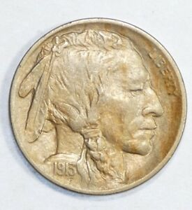 1913 D TY 1 BUFFALO NICKEL ALMOST UNCIRCULATED 5 CENTS