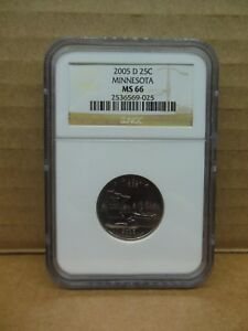 2005 D MINNESOTA STATE QUARTER NGC MS 66 BUSINESS STRIKE   A NICE COIN