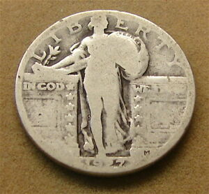 STANDING LIBERTY SILVER QUARTER     1927