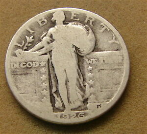 STANDING LIBERTY SILVER QUARTER     1926