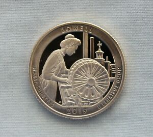 2019 S LOWELL CLAD PROOF NATIONAL PARKS QUARTER CAMEO