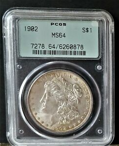 1902 MORGAN SILVER DOLLAR $1   PCGS MS64 OGL