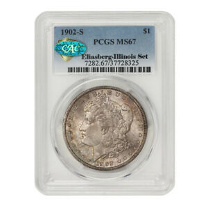 Click now to see the BUY IT NOW Price! 1902 S $1 SILVER MORGAN PCGS MS67 CAC ILLINOIS SET SAN FRANCISCO DOLLAR COIN