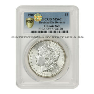 Click now to see the BUY IT NOW Price! 1901 $1 SILVER MORGAN PCGS MS62 DDR PQ APPROVED ILLINOIS SET DOUBLE DIE REVERSE