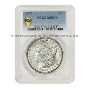 Click now to see the BUY IT NOW Price! 1902 $1 SILVER MORGAN PCGS MS67  PLUS ILLINOIS SET PHILADELPHIA MINT DOLLAR COIN