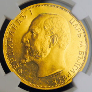 Click now to see the BUY IT NOW Price! 1912 BULGARIA FERDINAND I. GOLD 100 LEVA COIN.  ORIGINAL PROOF  NGC PF 62