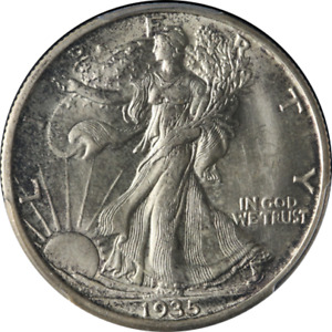 Click now to see the BUY IT NOW Price! 1935 S WALKING LIBERTY HALF PCGS MS65 FANTASTIC LUSTER NICE STRIKE TOUGH TO FIND