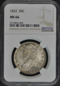 Click now to see the BUY IT NOW Price! 1832 CAPPED BUST LETTERED EDGE 50C NGC MS66