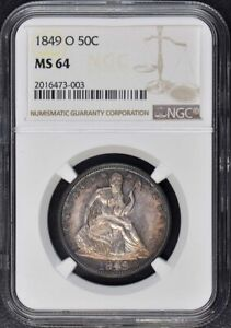Click now to see the BUY IT NOW Price! 1849 O SEATED LIBERTY HALF DOLLAR   NO MOTTO 50C NGC MS64