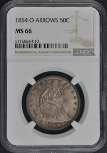 Click now to see the BUY IT NOW Price! 1854 O ARROWS SEATED LIBERTY HALF DOLLAR 50C NGC MS66