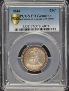Click now to see the BUY IT NOW Price! 1844 25C LIBERTY SEATED QUARTER PCGS PROOF GENUINE ED MINTAGE 5