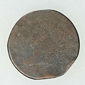 NO DATE CLASSIC HEAD LARGE CENT 1C CIRCULATED CORROSION DAMAGED  8687