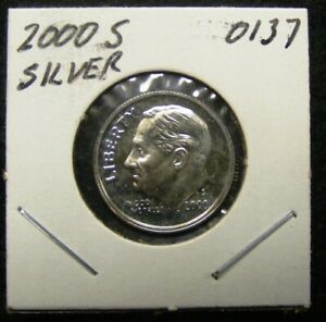 2000 S SILVER PROOF ROOSEVELT DIME  0137