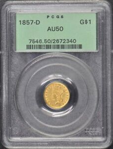 Click now to see the BUY IT NOW Price! 1857 D G$1 GOLD DOLLAR PCGS AU50 OGH