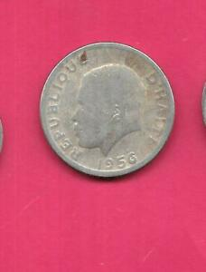 HAITI HAITIAN KM61 1956  FINE NICE OLD VINTAGE LARGE 10 CENTIMES COIN