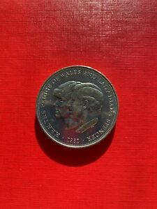 25 NEW PENCE COIN 1981 ROYAL WEDDING  COMMEMORATIVE KM925   L5