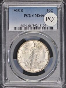 Click now to see the BUY IT NOW Price! 1935 S 50C WALKING LIBERTY HALF DOLLAR PCGS MS66