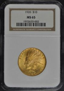 Click now to see the BUY IT NOW Price! 1926 INDIAN $10 NGC MS65