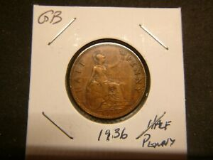 GREAT BRITAIN 1936 1/2 PENNY