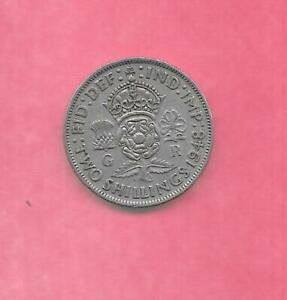 GREAT BRITIAN GB UK KM865 1948  VF VERY FINE NICE OLD ANTIQUE FLORIN COIN