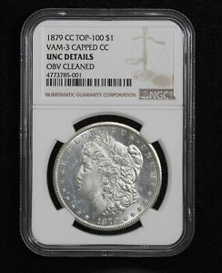 Click now to see the BUY IT NOW Price! 1879 CC MORGAN DOLLAR NGC UNC DETAILS VAM 3 CAPPED CC TOP 100 CLEANED