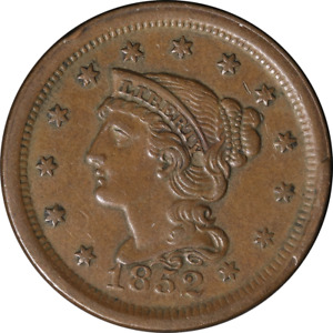 1852 LARGE CENT NEAT RIM CUD N 6 R 2 GREAT DEALS FROM THE EXECUTIVE COIN COMPANY