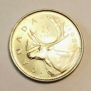 1990 CANADA 25 CENTS PROOF QUARTER HEAVY CAMEO COIN